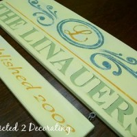 hand painted family name sign 12