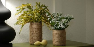 jute wrapped jar vase