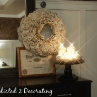 how to make a book wreath 17