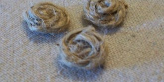 how to make jute rosette buttons 5