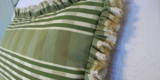selvage ruffle pillow 17