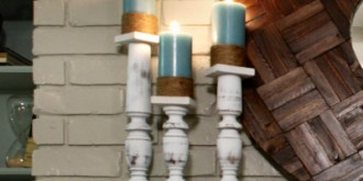 spindle candlesticks