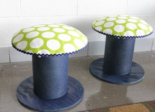 inspiration files--electrical spools turned stools