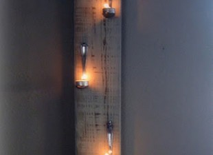inspiration files--tea light wall art