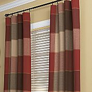 reader question--plaid curtains