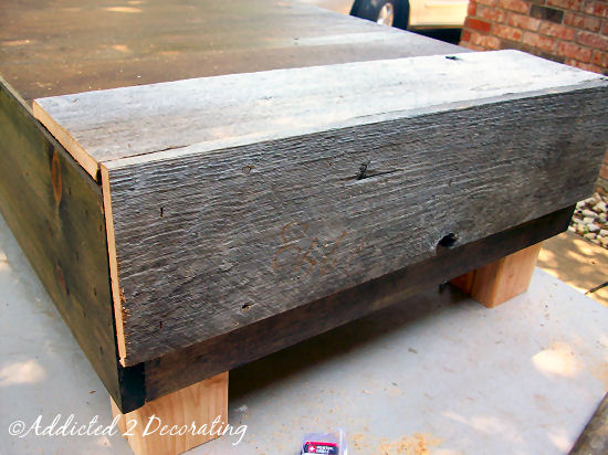 How to make a factory cart style coffee table