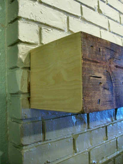 How to make a rough hewn wood fireplace mantel