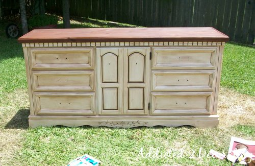 . How to Paint  Distress and Antique a Piece Of Furniture