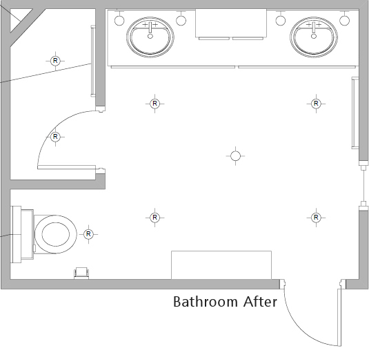 Bathroom floor plan after Bathroom floor plans
