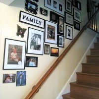 stairway with family pictures