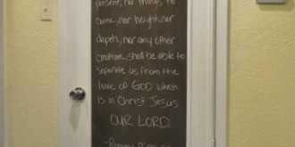 turn a door into a framed chalkboard 17