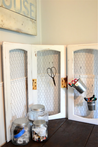 Exceptionnel Use Cabinet Doors To Organize Office And Craft Supplies:
