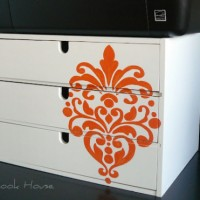 inspiration files--desktop storage drawer unit with damask stencil from the stonybrook house--thumbnail