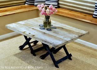 inspiration files--diy rustic wood coffee table