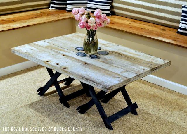 DIY Barn Wood Coffee Table