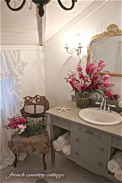 Charmant ... Bathroom Makeover From French Country Cottage. Every ...