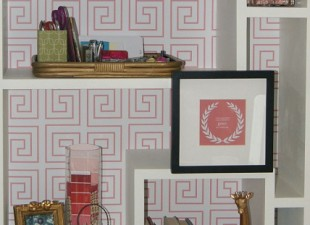 inspiration files--greek key backed bookcase from meredith and gwyneth--after