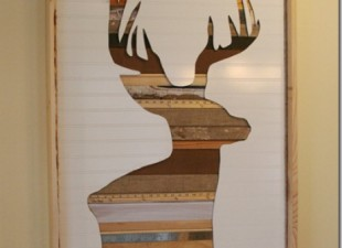inspiration files--rustic wood deer head wall art from the hell on heels housewife