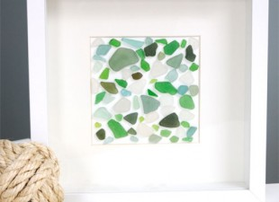 Easy Mosaic Sea Glass Artwork From Creative In Chicago Blog
