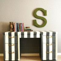 inspiration files--striped desk from because i like to decorate