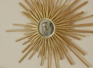 inspiration files--whimsical bamboo sunburst mirror from living savvy