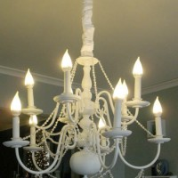 chandelier makeover--after--the modern parsonage