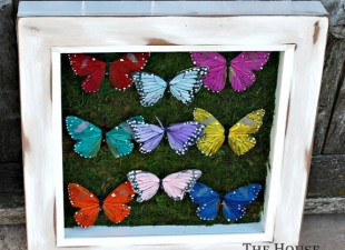 inspiration files--butterfly shadow box from the house at bluebird lane
