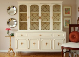 inspiration files--china cabinet makeover from honey sweet home--after