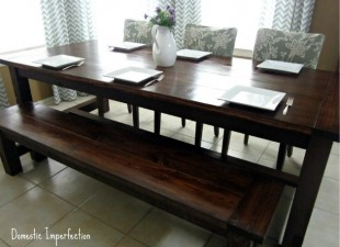 inspiration files--farmhouse table and bench from domestic imperfection