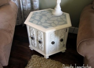 inspiration files--side table makeover from domestic imperfection--after