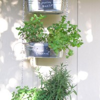 diy hanging herb garden from small garden love