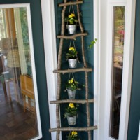 inspiration files--ladder made from branches from ashbee design