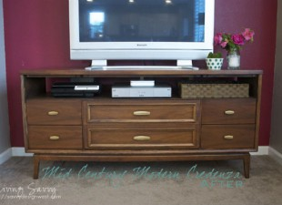 inspiration files--mid century modern dresser makeover from living savvy--after