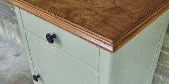 covering ugly laminate with pretty wood veneer--thumbnail