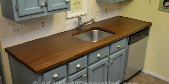 how i stained and sealed my ikea numerar butcher block countertops 3