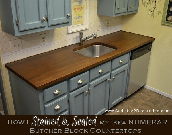 How I Stained And Sealed My Ikea NUMERAR Butcher Block Countertops