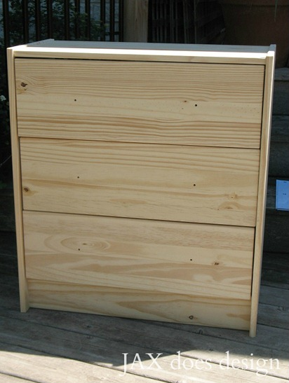 RAST dresser from Ikea as it looks assembled from the box