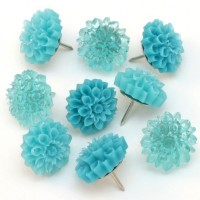 inspiration files--resin chrysanthemum thumb tacks from stars and sunshine blog