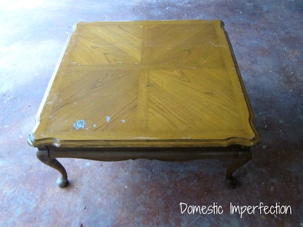 Coffee table makeover from Domestic Imperfection