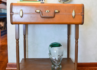 inspiration files--accent table made from an old suitcase from stars for streetlights blog