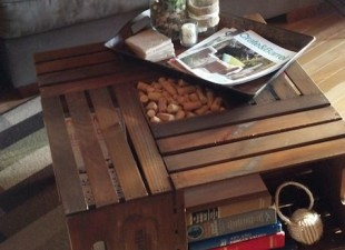 inspiration files--coffee table made from wine crates from diy vintage chic