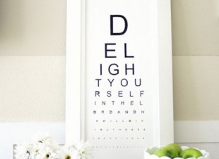 inspiration files--diy eye chart artwork from design dining and diapers blog