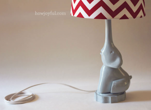 inspiration files--elephant lamp made from styrofoam from how joyful blog
