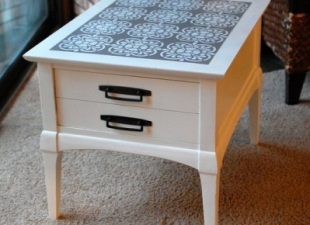 inspiration files--thrift store side table makeover from heathermade designs -- after