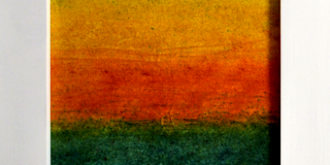 impressionist artwork with fabric dye - thumbnail