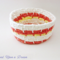 inspiration files - yarn wrapped basket from renewed upon a dream blog