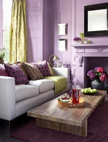 Color inspiration purple green and teal for Living room ideas purple