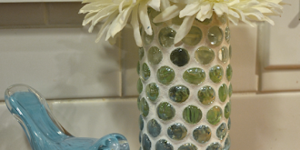grouted glass marble vase - thumb