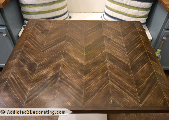 DIY chevron wood table top
