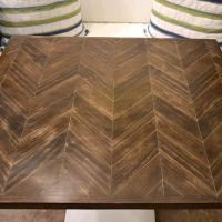stained chevron table - thumbnail